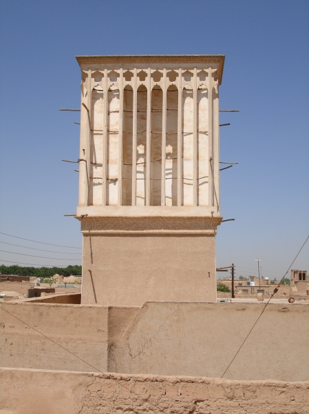 Badgir - a typical ventilation tower in Yazd