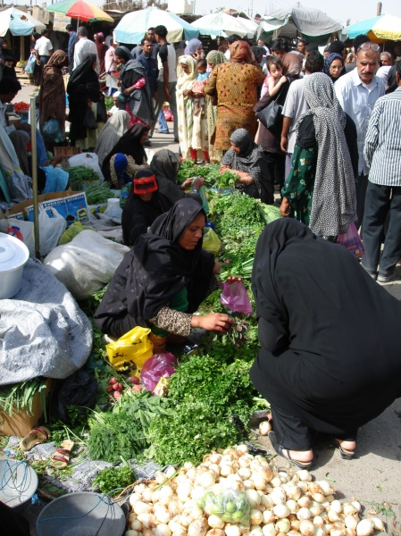 Market in Minab