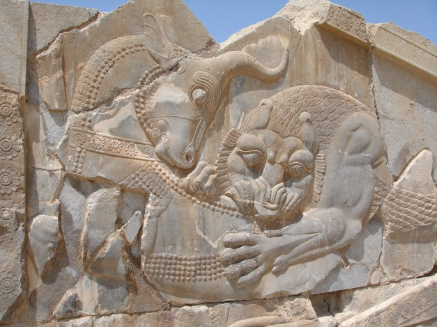 Wall carving at Persepolis
