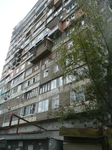 The glorious legacy of Soviet social housing, at least they planted a tree