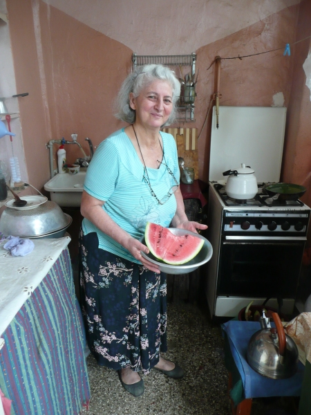 Mediko Gvetadze in her kitchen in Kutaisi - the epitomy of Georgian hospitality
