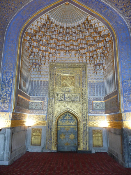 Interior of Ulugh Beg Madrasa, Registan, Samarkand