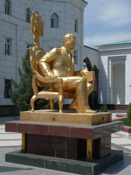 Yet another sodding gold statue of Turkmenbashi