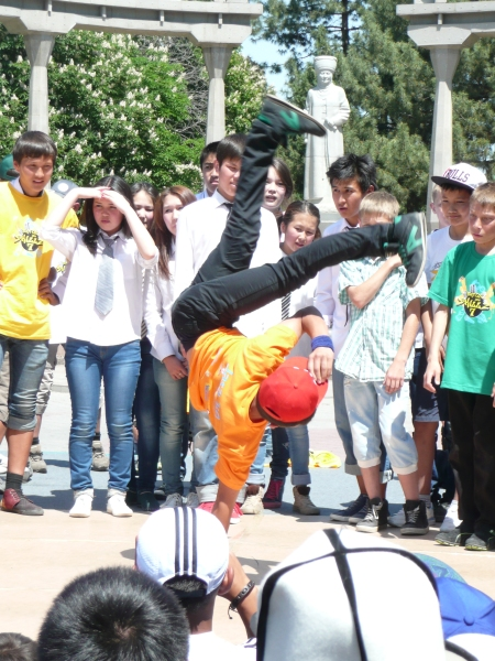 Even break dancing has reached Bishkek
