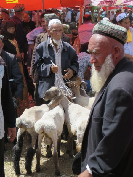 local faces at the Kashgar livestock market