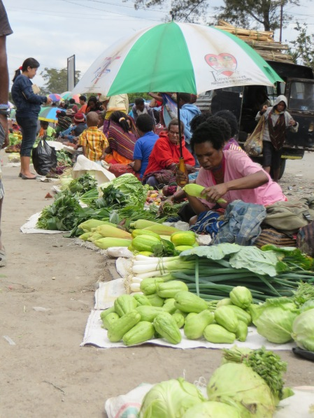 Stocking up in Wamena market before the adventure