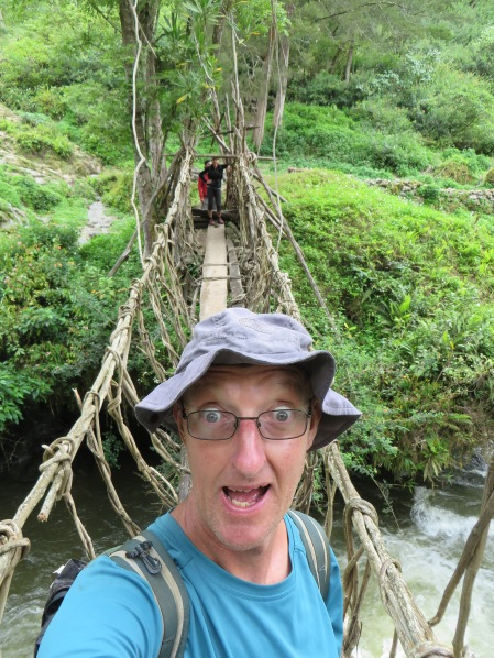 The far more stable bridge of vines. Before you accuse me of coming late tothe selfie craze I was doing them back in the day it was called taking a photo.