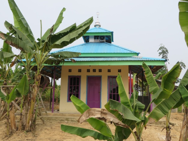 Multi-coloured mini mosque