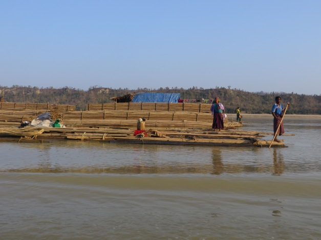 Who needs an office job when you can spend the week sitting on a bamboo raft?