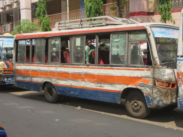 A certain amount of vehicle to vehicle contact is an inherent part of driving styles in Dhaka