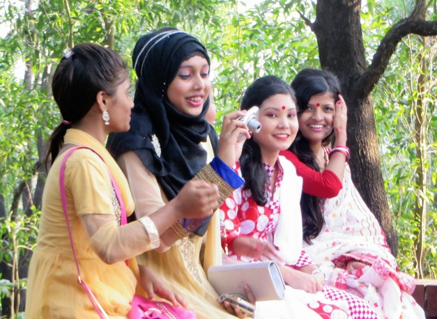 Friendly faces at Bengali new year celebrations
