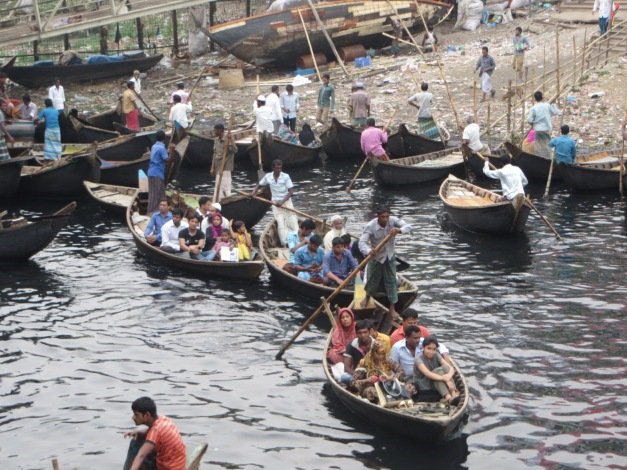 The rubbish strewn river banks of Dhaka and black water indicate that some work remains with the environment.