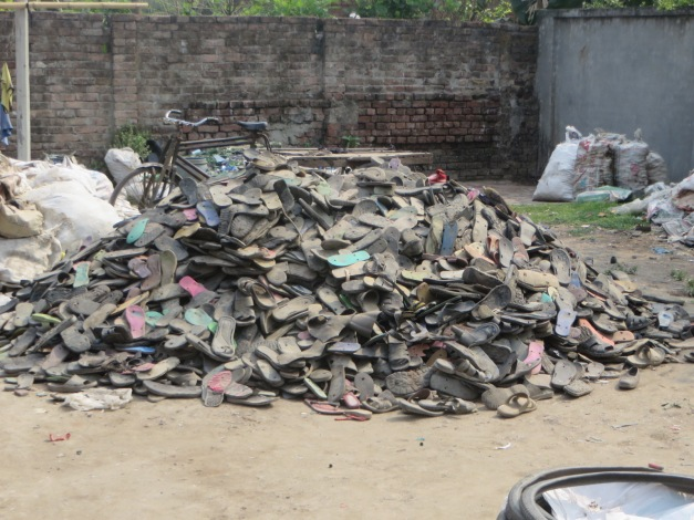 Even flip flops are recycled