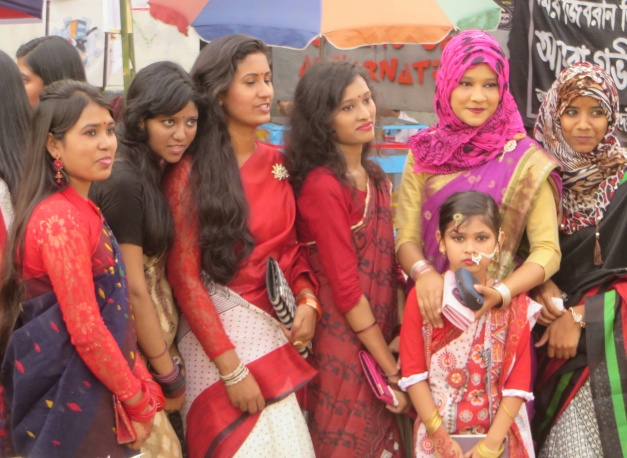 Muslim and Hindu girls at Bengali new year in Sylhet
