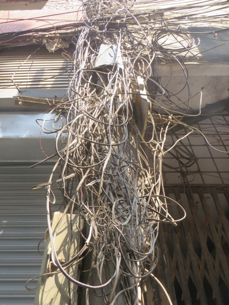 I wouldn't be surprised to see sacrificial offerings made by the locals at this splendid shrine to the god of superflous wiring
