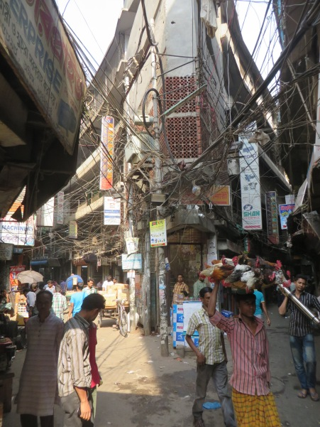 There's never a dull view in the alley ways of Dhaka