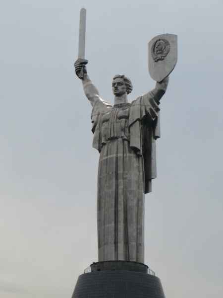 Few countries can compete with the Russians for bloody great statues of female figures guarding cities