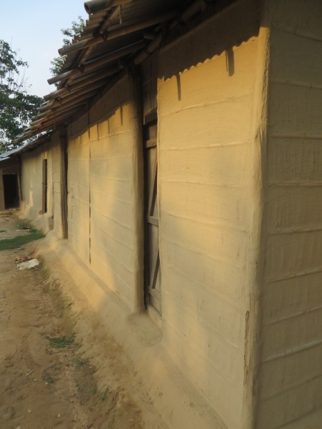 A recently built, typical house for the poorer people, though brick and concrete is becoming more common when financies allow