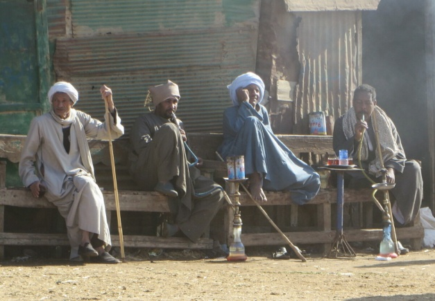 A well deserved smoke and a cup of tea after a hard morning bashing camels
