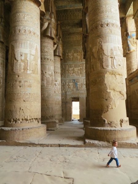 The incredible temple at Dendara, which unlike most of the rest is complete, roof and all