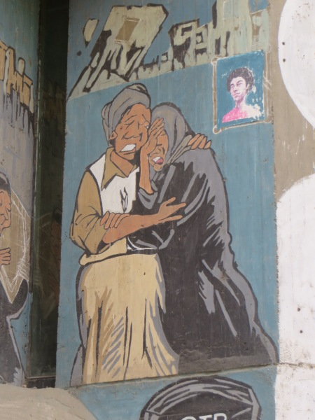 Some of the revoltionary graffit that is still left in Cairo