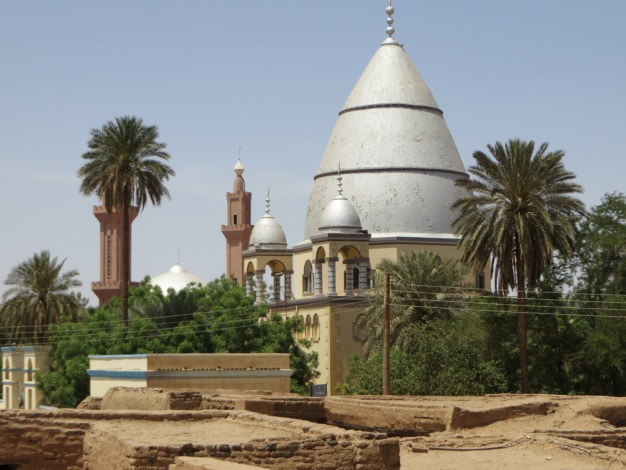 The tomb of the Mahdi, Sudan's inspiring leader, whose battle of liberation against the British was eventually beaten by superior firepower