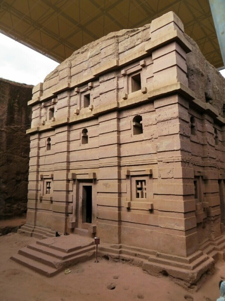 Just one of the amazing churches of Lalibela