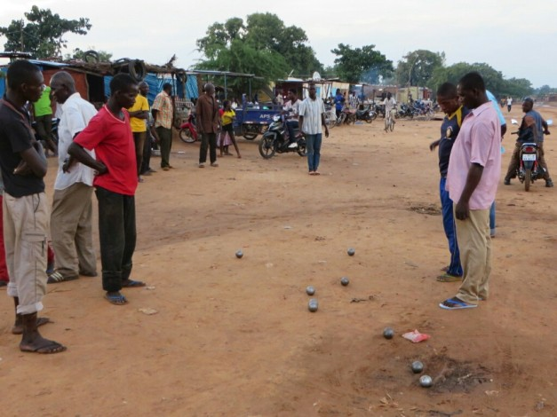 One surprising leftover from the days of French colonialism is the game of Petanque. Everyday you will find groups of men in Jongo having a game