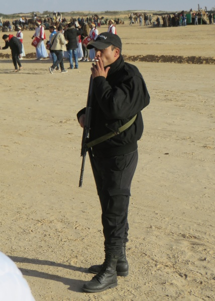 There was rarely any shortage of security in Tunisia - a job that demanded a good supply of cigarettes