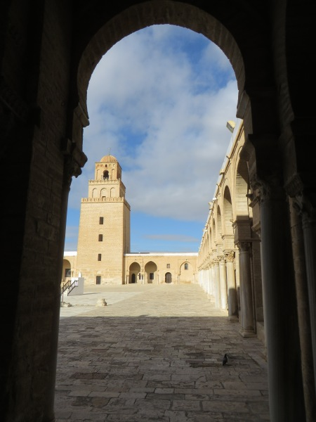 Great Mosque Kairouan. From the early days of Islam the town was an important centre of learning and pilgrimage